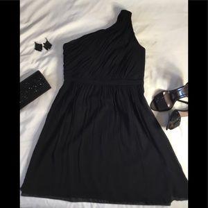 J Crew Black Silk Chiffon Dress